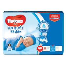 Tã dán SS Huggies new born NB36+KM